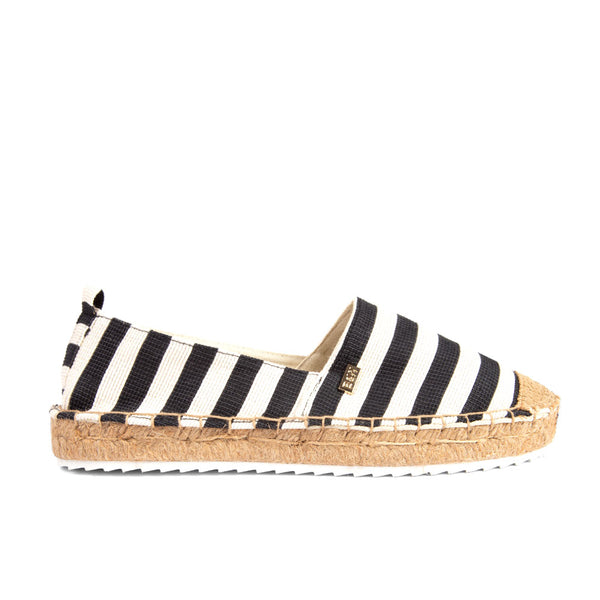 Espadrilles Creta Black Stripes
