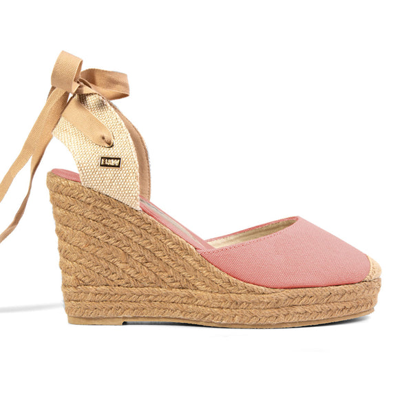 Wedge Shoe Espadrilles Capri Pink Bow