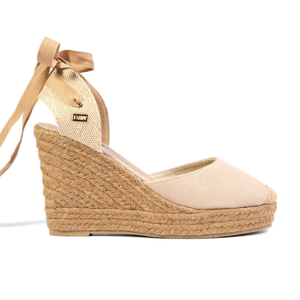 Wedge Shoe Espadrilles Capri Beige Bow