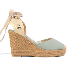 Wedge Shoe Espadrilles Capri Aqua Bow