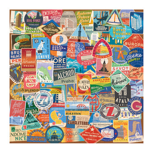 Vintage Travel Luggage Labels 500 Pc Puzzle