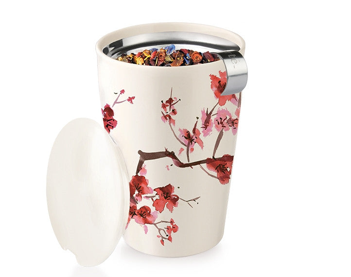 Tea Forté Kati Steeping Cup-Cherry Blossom Pattern