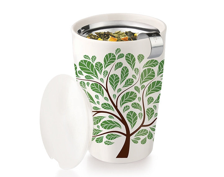 Tea Forté Kati Steeping Cup- Green Leaves