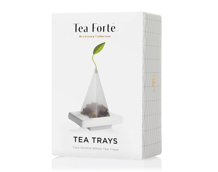 Tea Forté Tea Trays- White
