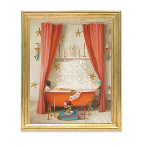 "Janet Hill Art Print ""Princess Edwina Takes A Bath"""