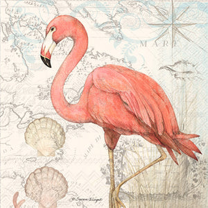 Cocktail Napkin- Flamingo