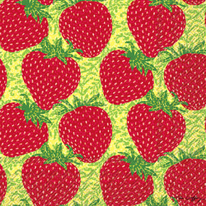NEW! Cocktail Napkin- Strawberry