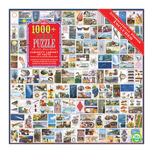 NEW! Curiosity Cabinet of Facts 1000 Piece Puzzle