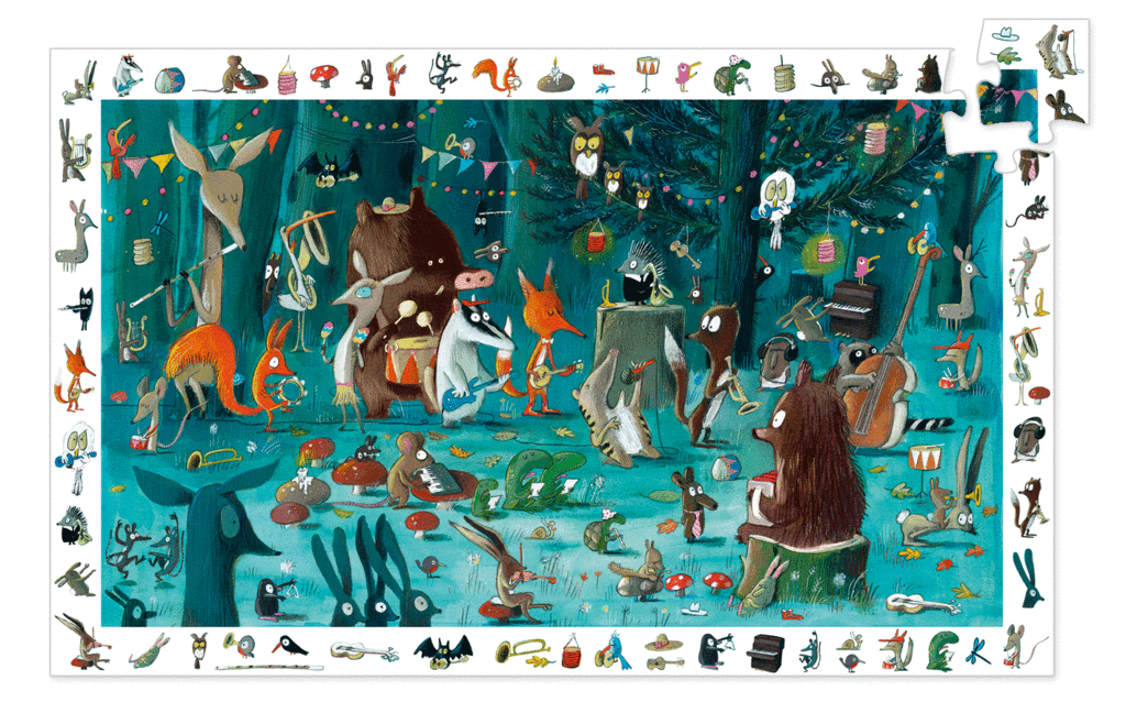 NEW! DJECO Enchanted Forest Observation Puzzle