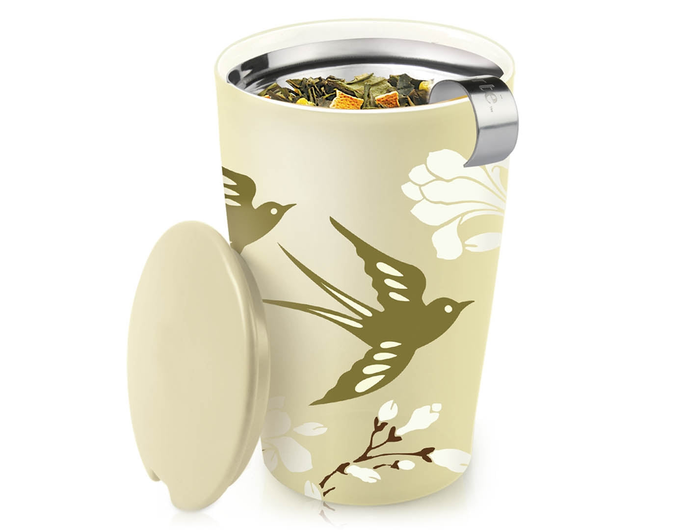 Tea Forté Kati Steeping Cup- Birdsong Pattern
