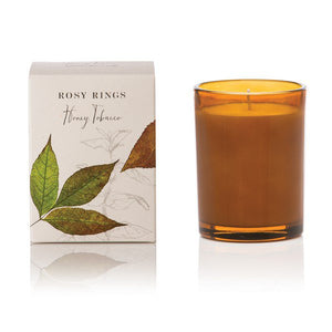 Honey Tobacco Botanica Glass Candle