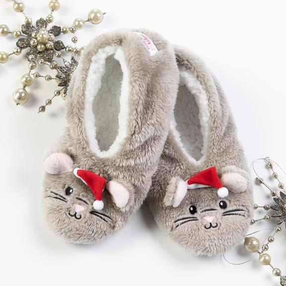 Night Before Christmas Mouse Slippers