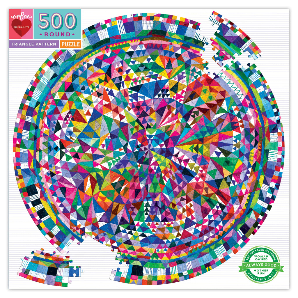 Triangle Pattern Round Puzzle