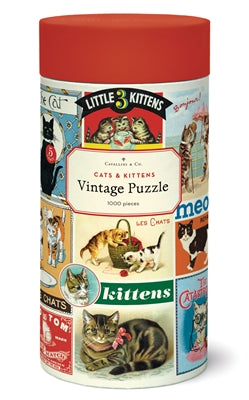 NEW! Vintage Style Puzzle - Cats & Kittens
