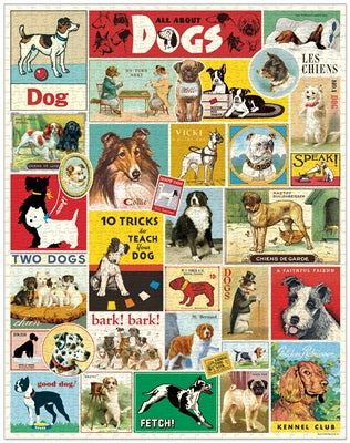NEW! Vintage Style Puzzle -Dogs