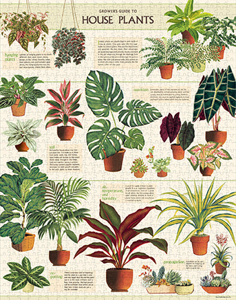 NEW! Vintage Style Puzzle -  House Plants