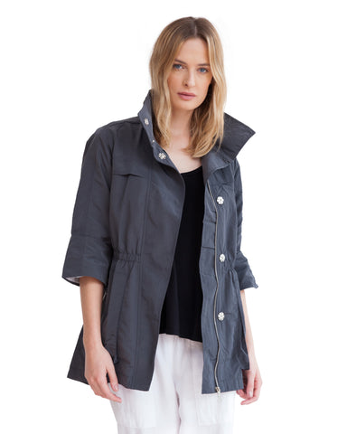 The Anorak - Crinkle Nylon Charcoal