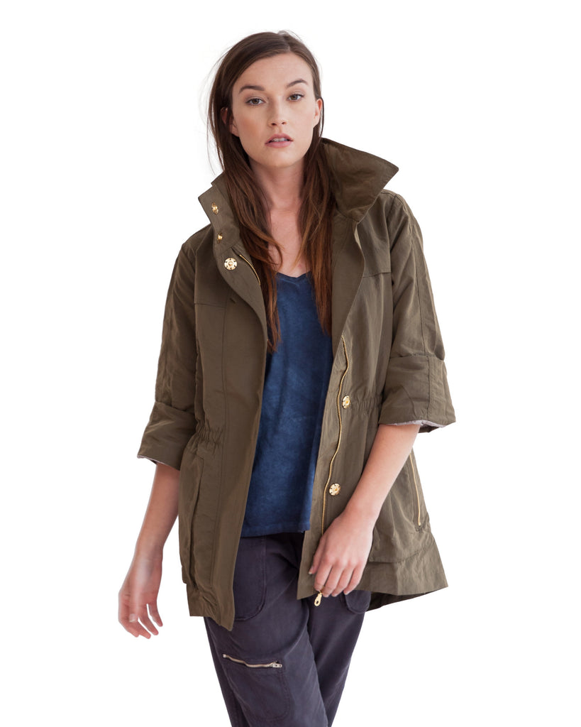 The Anorak - Crinkle Nylon Olive