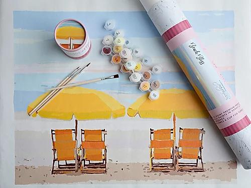 NEW! Paint By Number Kit- Beach Bliss