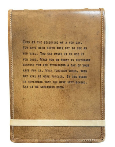 Leather Journal - This Is The Beginning