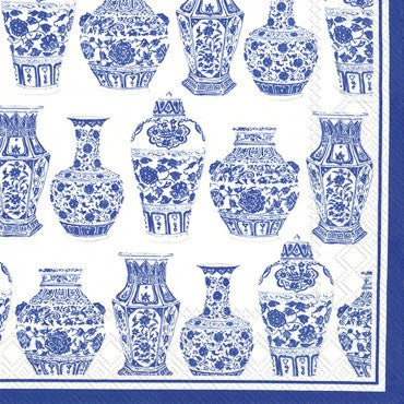 Cocktail Napkins- Blue and White Urns