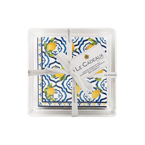 Cocktail Napkins in Acrylic Holder- Palermo