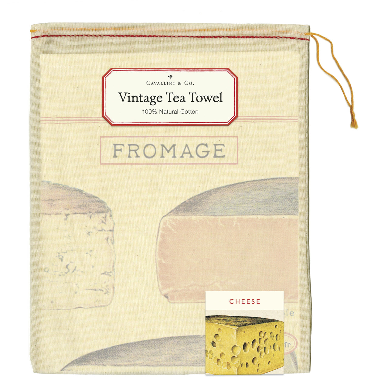 Cotton Tea Towel- Cheese