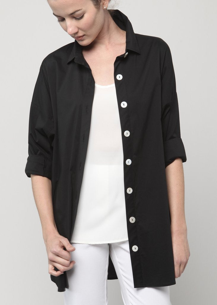 Dolman Sleeve Blouse- Black