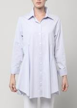 Double Button Blouse-Barely Blue