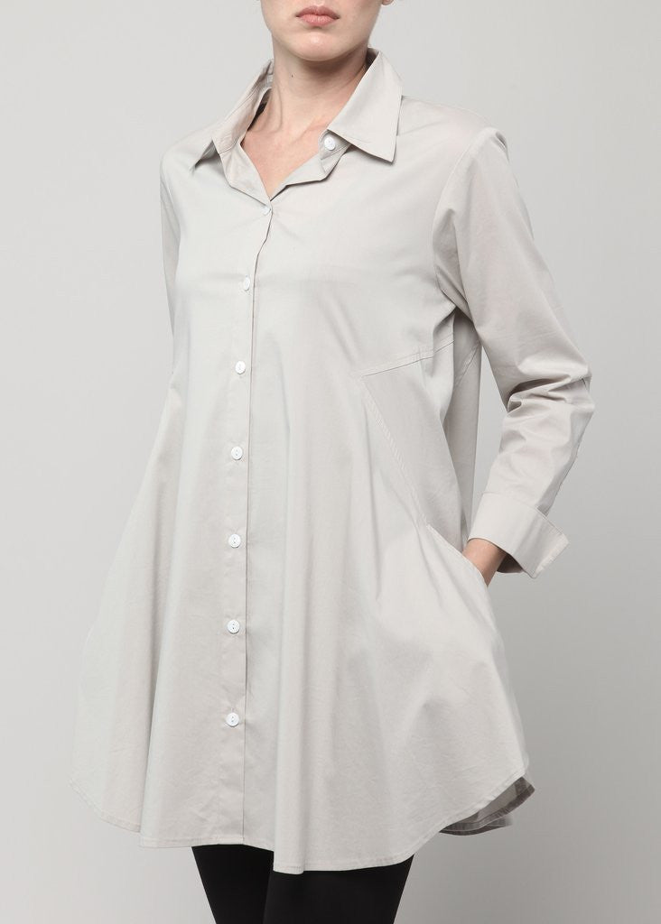 Double Button Blouse-Stone