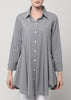 Double Button Blouse-Pinstripe