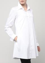 Double Button Blouse-White