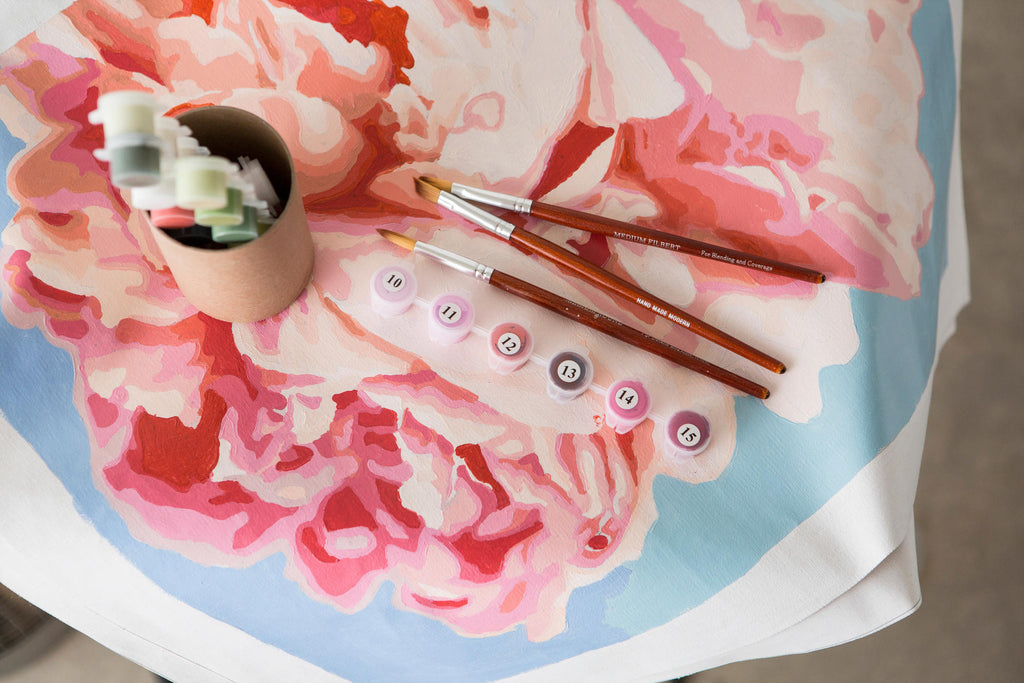 Paint By Number Kit- Pink Petals