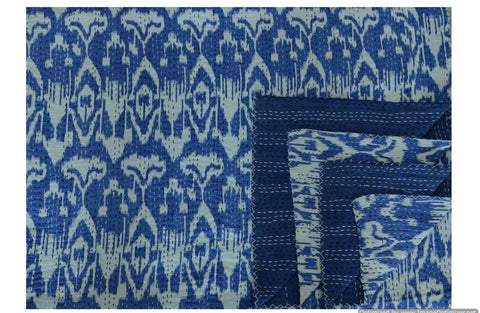 Kantha Throw-Ikat