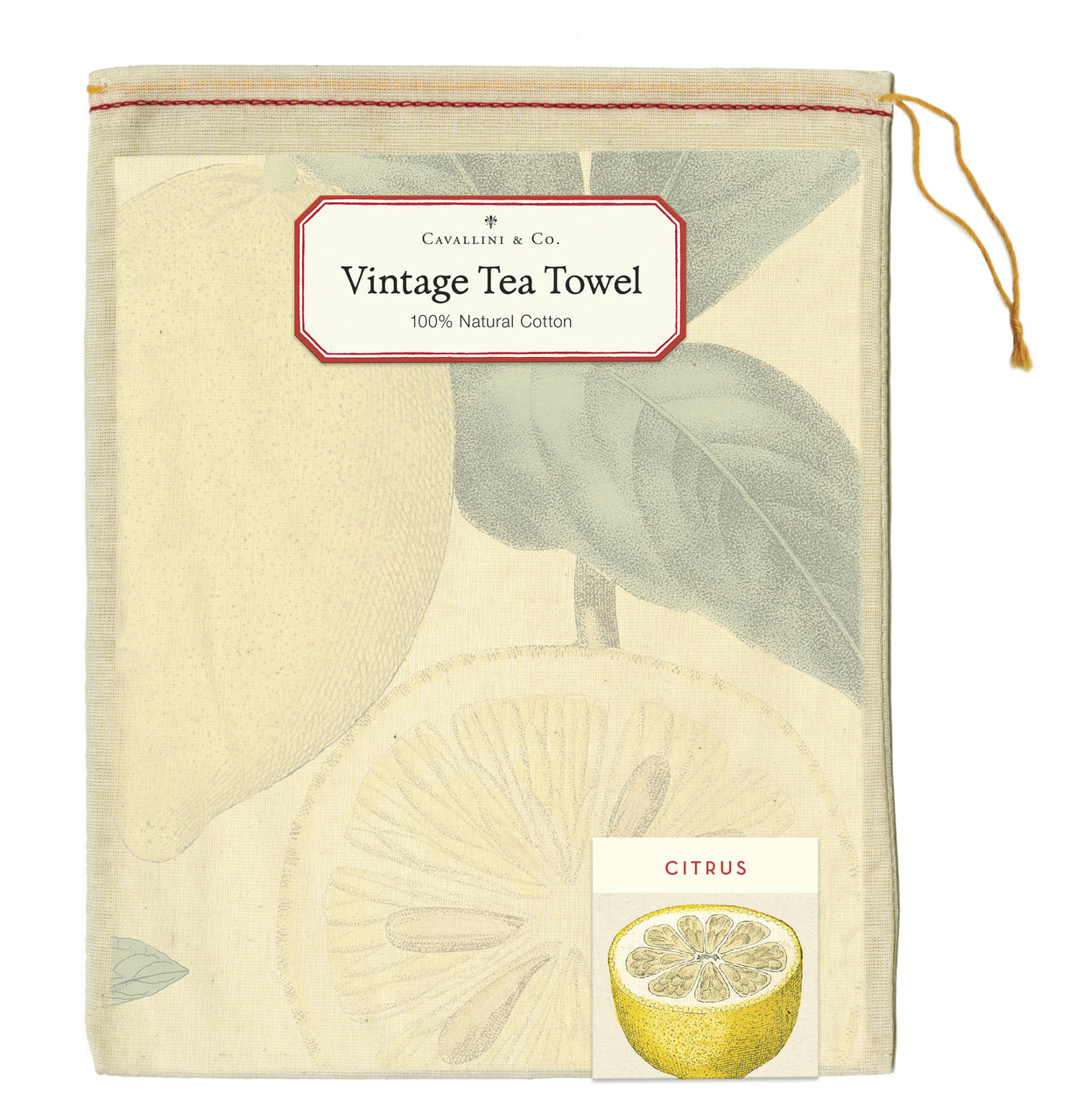 Cotton Tea Towel- Citrus