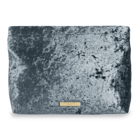 Katie Loxton- Valentina Velvet Clutch Bag- Crushed Blue
