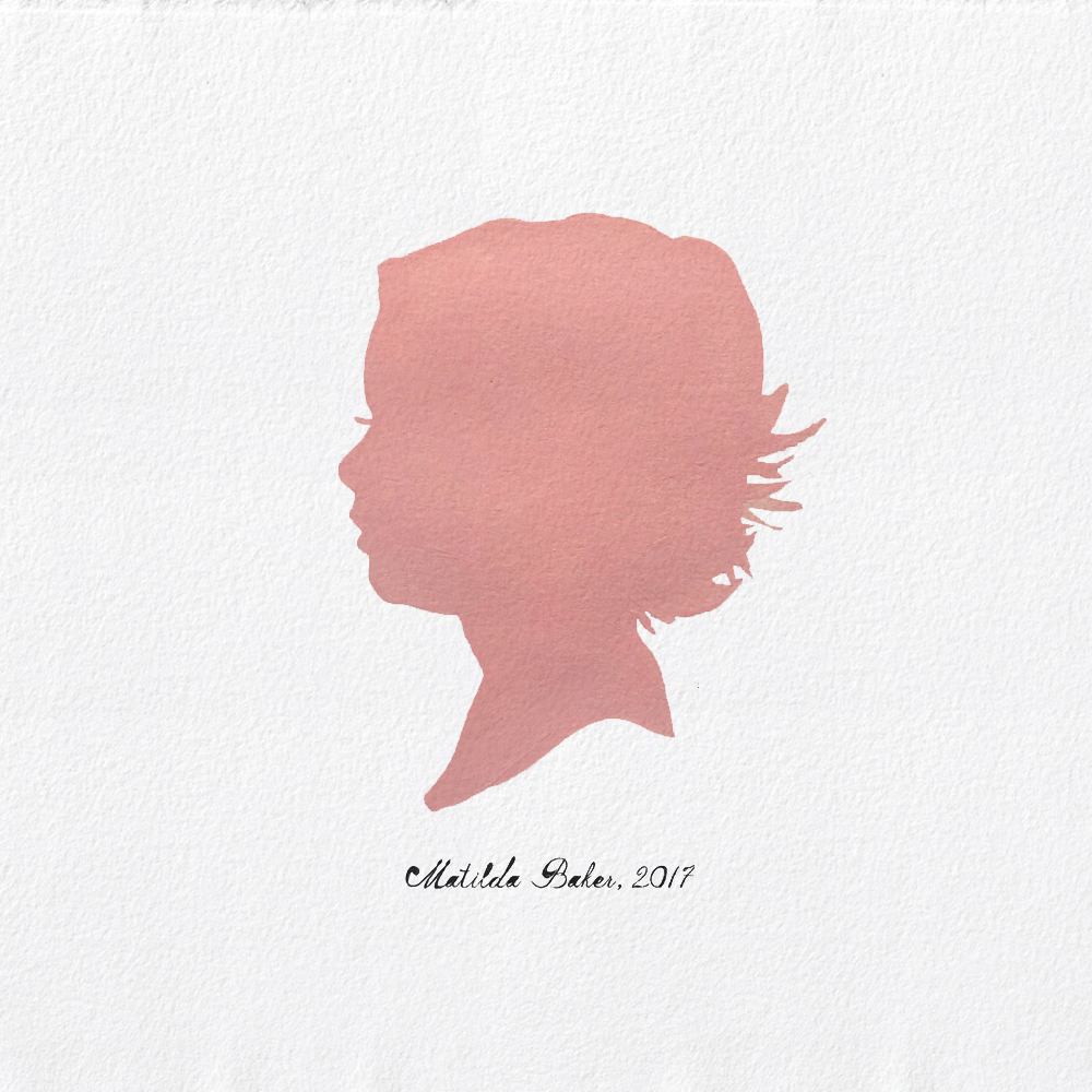 Hand-painted Classic Silhouette Portrait