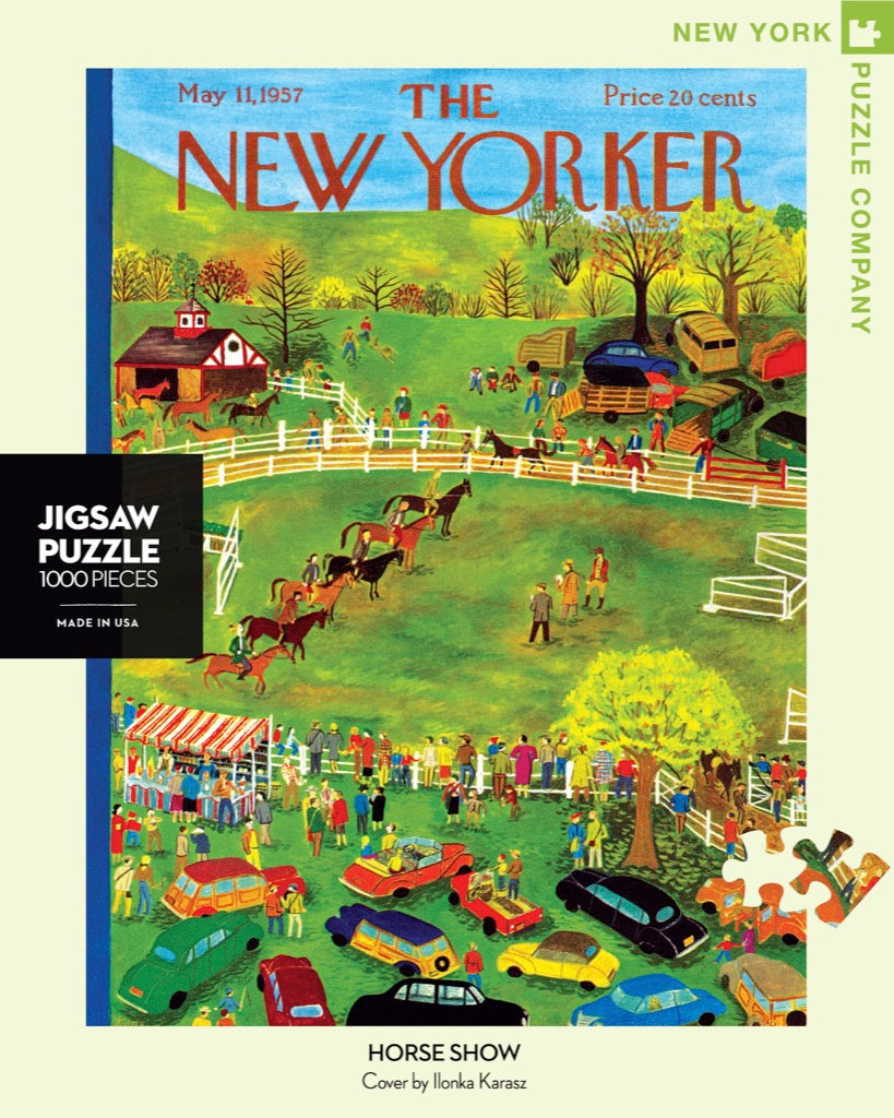 NEW! New Yorker Puzzle- Horse Show