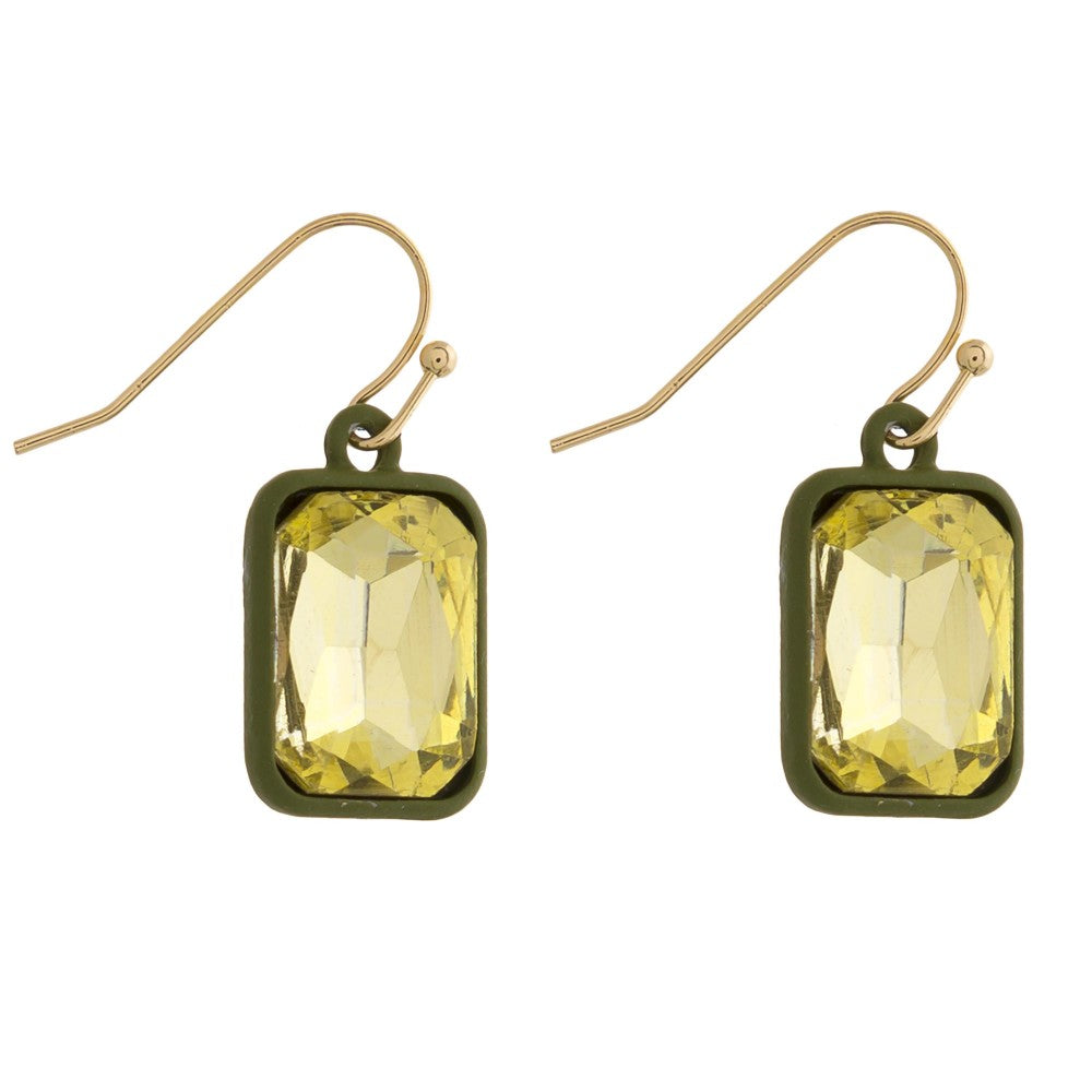 Gem Pop Drop Earrings--Assorted Colors