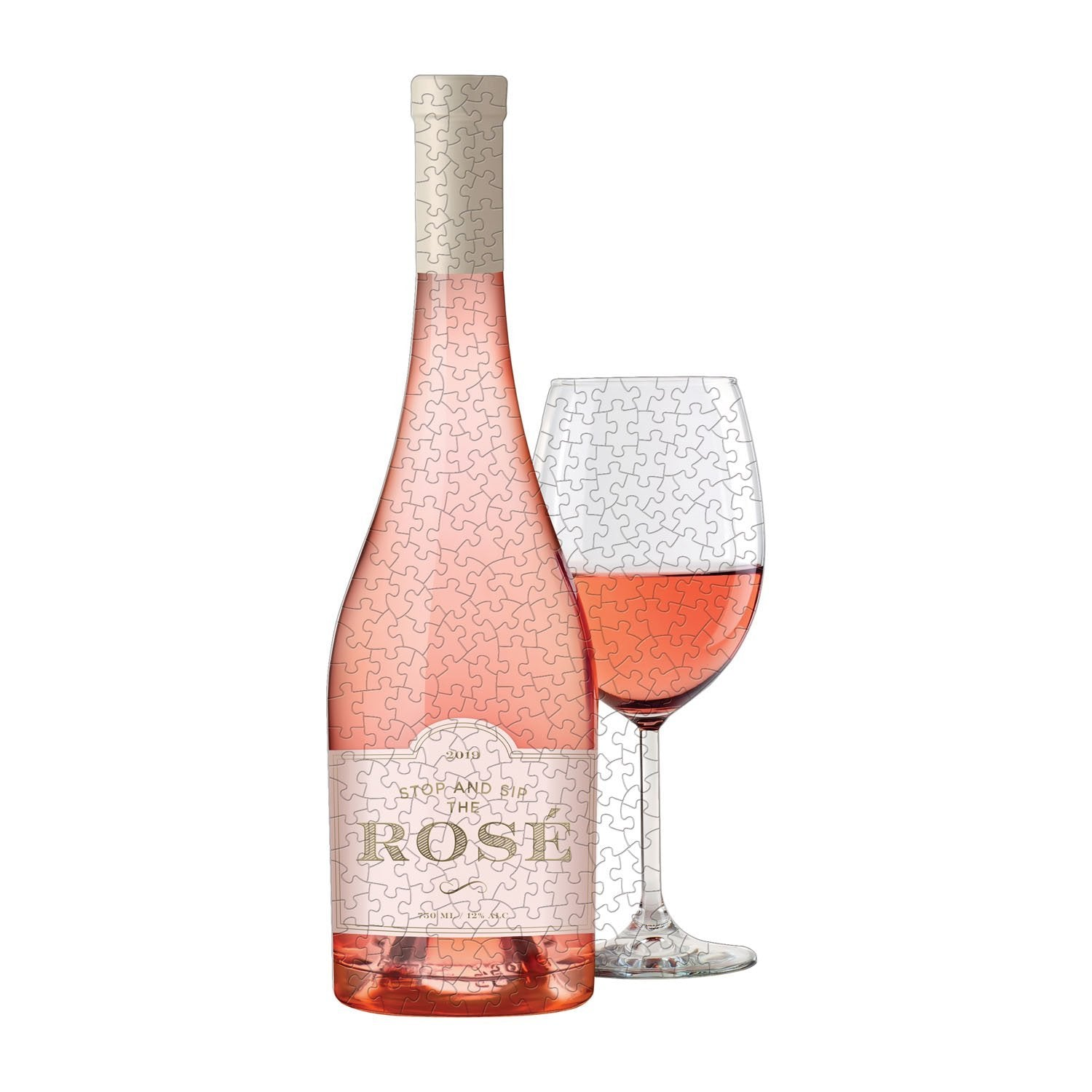 Rosé All Day, Set of Two Shaped Puzzles