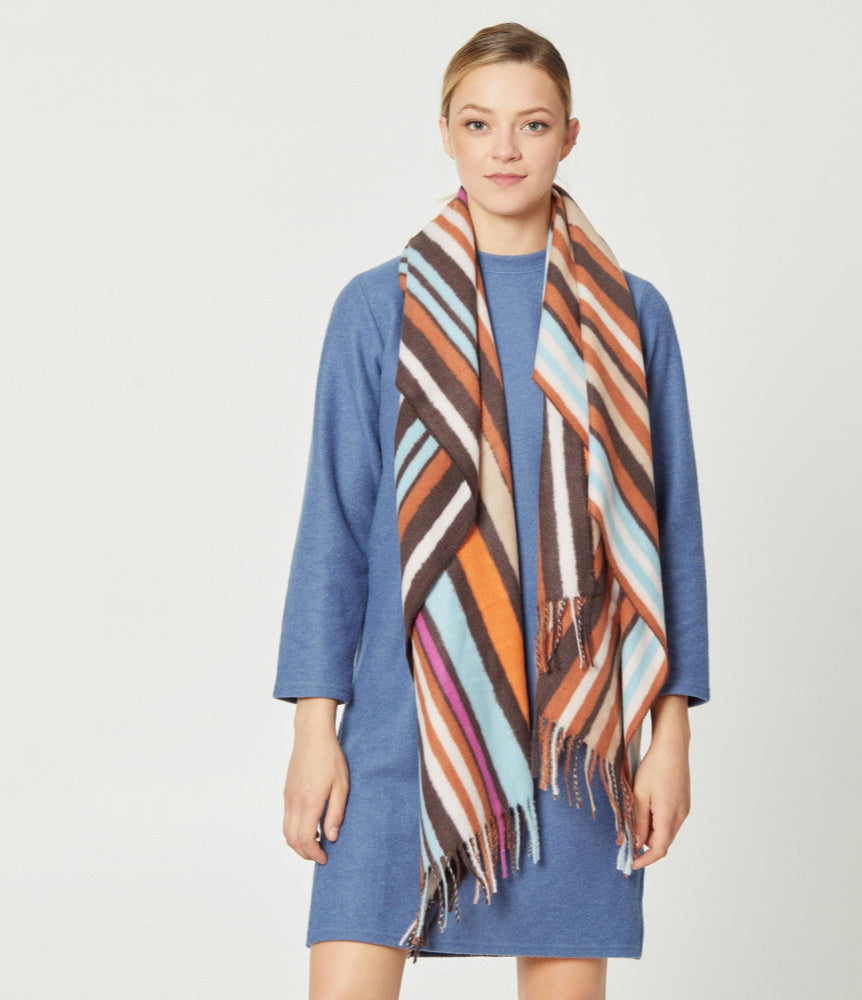 Shapely Striped Scarf