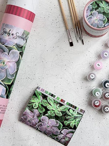 NEW! Paint By Number Kit- Succulents