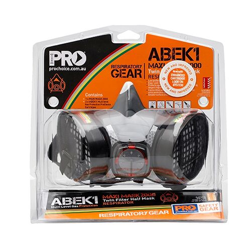 ProChoice- Assembled Half Mask With ABEK1 Cartridges