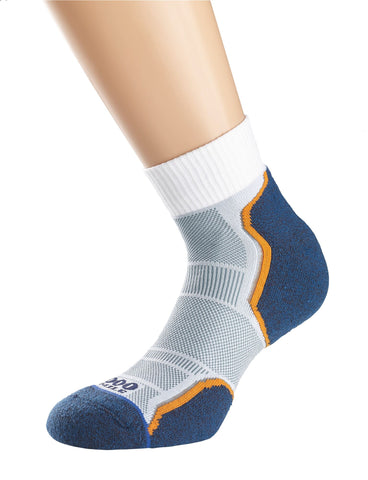 Breeze Sock - Grey/Navy/Orange