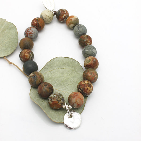 MOLTEN COLLECTION:  Natural Jasper Rock Stretch Bracelet