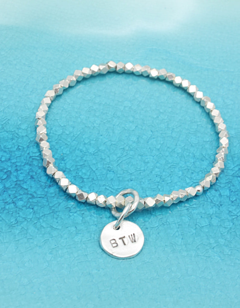 One Circle Fine Silver Charm STRETCH Bracelet