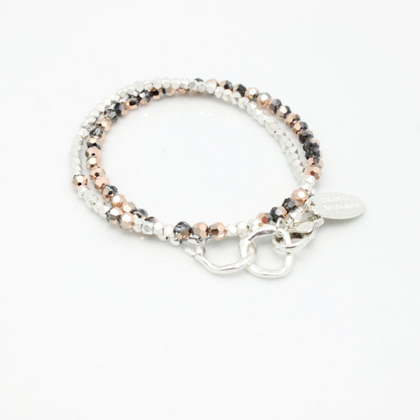Ombre Rose Gold Petite Hoops