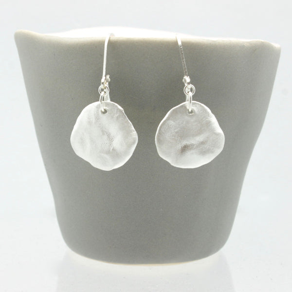 Molten Collection:  Silver Molten Earrings