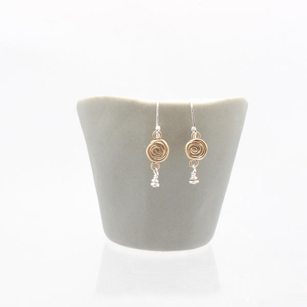 Athena Bronze Labyrinth Drop Earrings