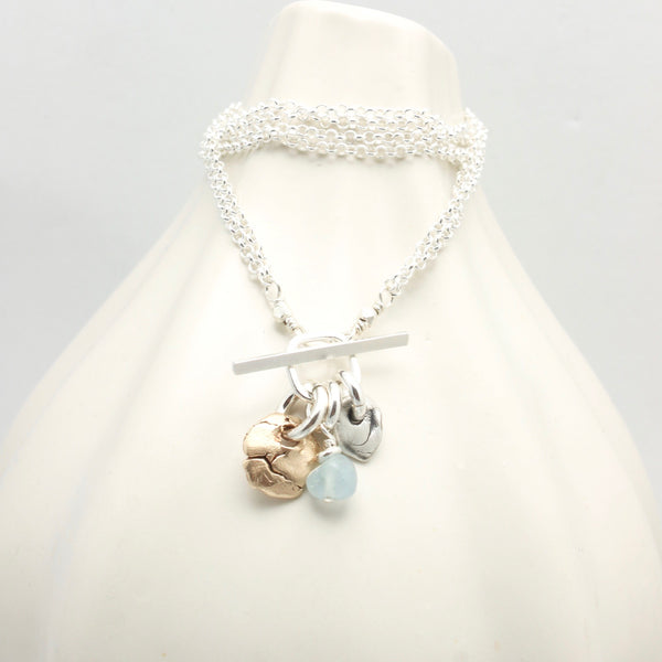 Lava Form Collection:  Wai Aquamarine Cluster Necklace